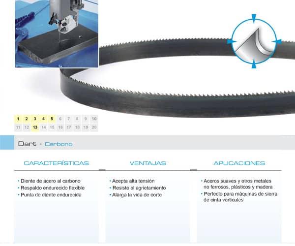 DoALL sierra cinta Dart carbono
