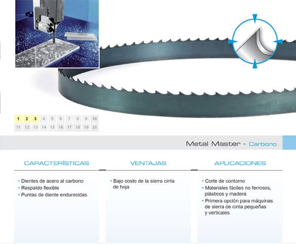 DoALL sierra cinta Metal Master carbono