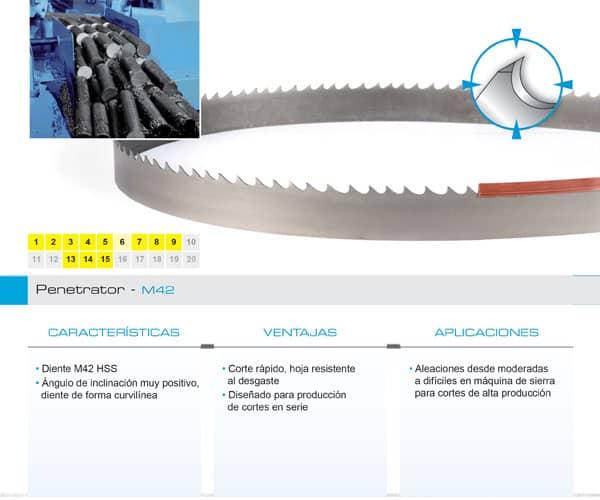 DoALL sierra cinta Penetrator M42