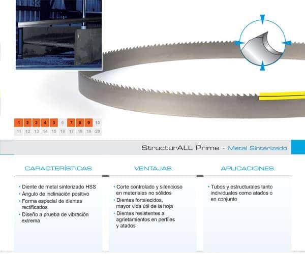 DoALL sierra cinta StructurALL Prime metal sinterizado