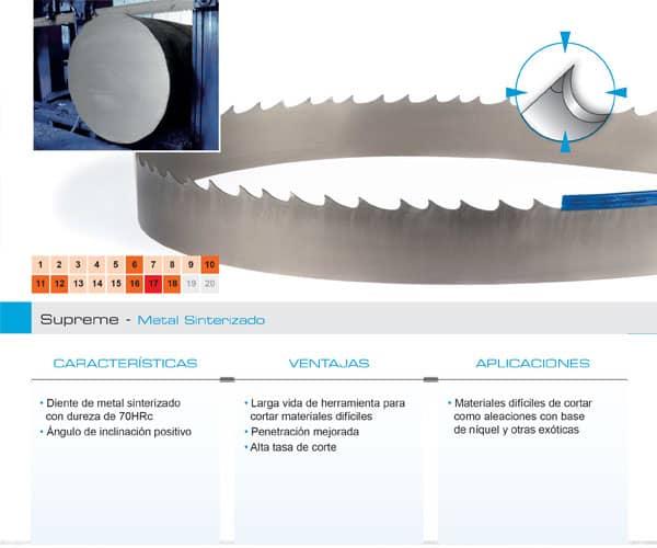 DoALL sierra cinta Supreme metal sinterizado