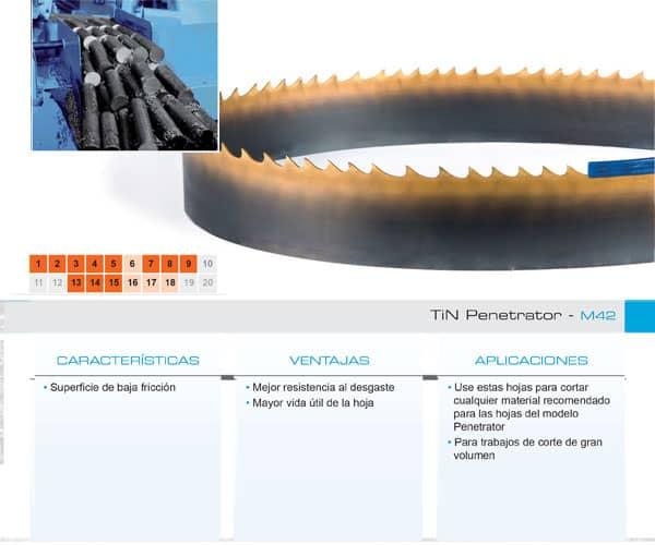DoALL sierra cinta TiN Penetrator M42