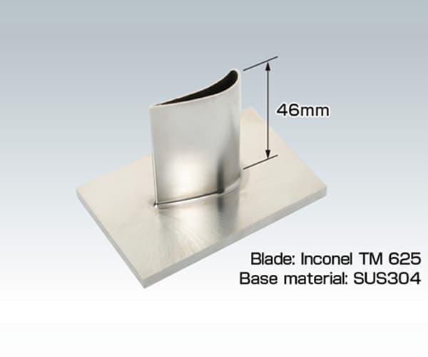 álave de turbina en fabricación aditiva laser