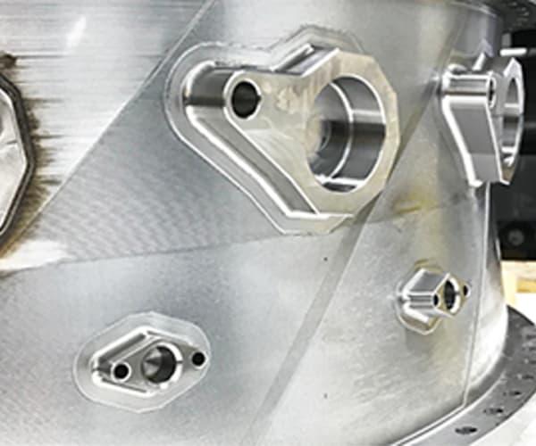 Turbina mecanizada después de deposición laser LMD