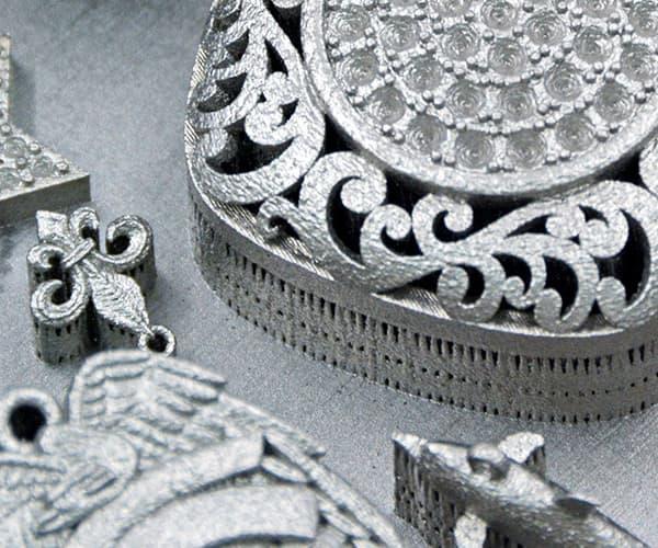 Joyería con fabricación aditiva de metales